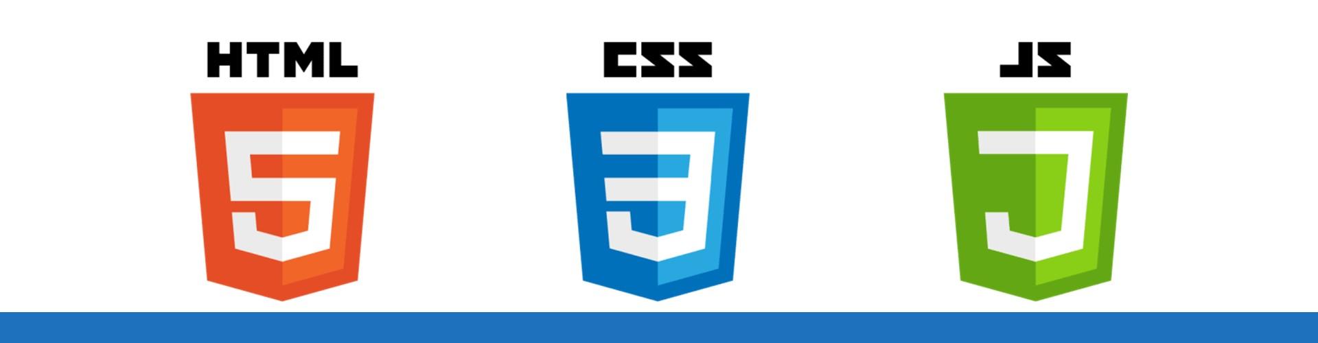 Logos des trois langages essentiels du Web : HTML, CSS et JavaScript