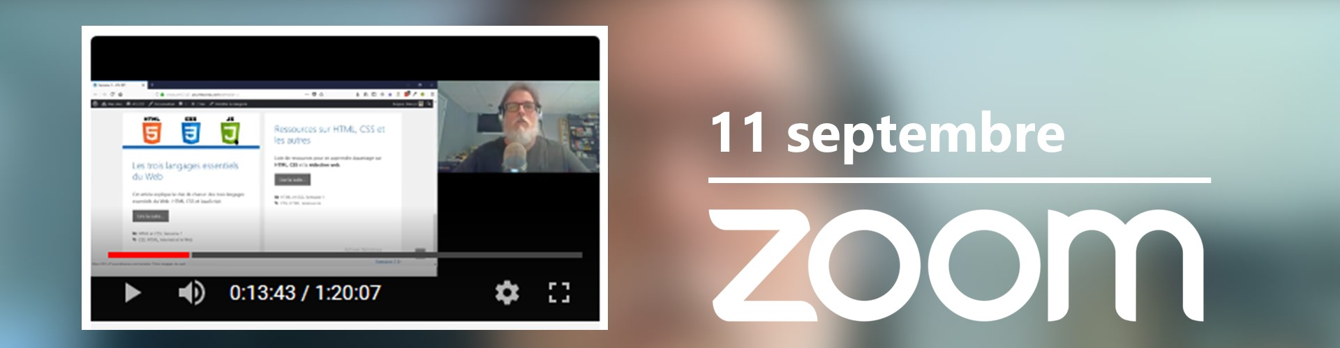Rencontre du 11 septembre sur Zoom