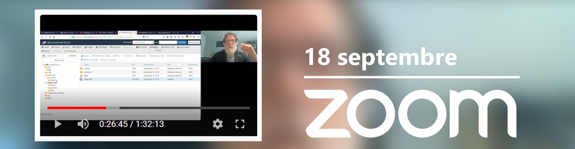 Rencontre du 18 septembre sur Zoom