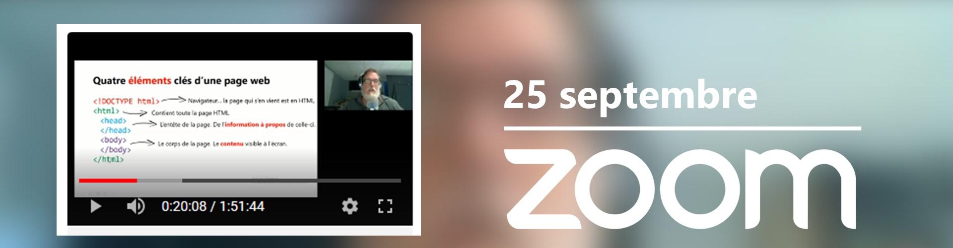 Rencontre du 25 septembre sur Zoom