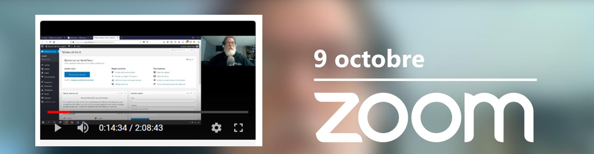 Rencontre du 9 octobre sur Zoom